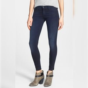 MOTHER the vamp ankle slit skinny jeans low raise
